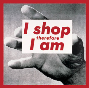 BarbaraKruger-I-Shop-Therefore-I-Am-II-1987