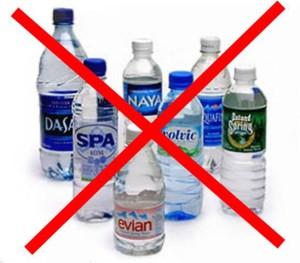 No to plastic bottles