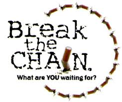 It is the time to break the chain. It is really important, for you as well for others, to QUIT SMOKING.