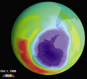 Hole in the Ozone Layer over the Antarctic