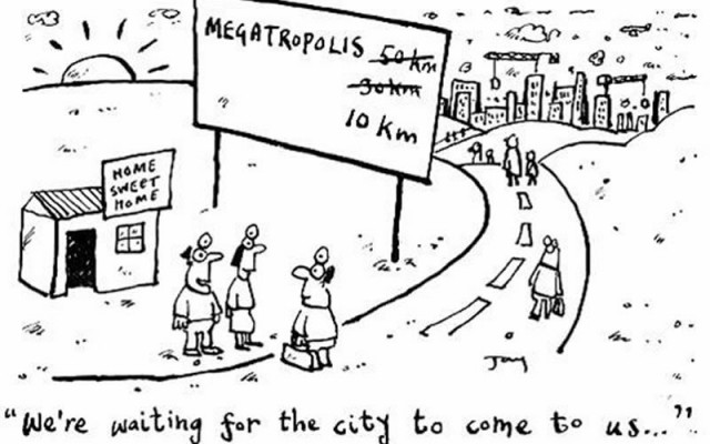 Urban sprawl cartoon
