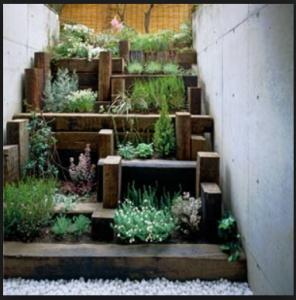 layered indoor garden