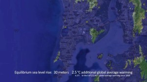 Mumbai after rise in sea levels
