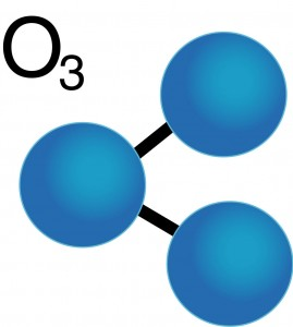 This is a representation of what an Ozone molecule looks like