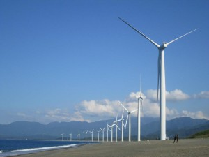 windmill farm in Bangui, Philippines