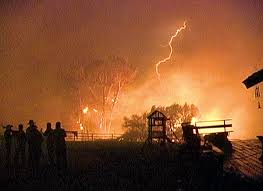 Lightning is one of the major natural causes of forest fires.