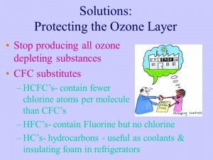 protect the ozone layer