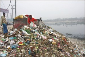 Wastes are destroying the fragile water environment.